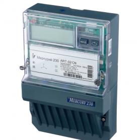 Счётчик Меркурий 230 ART-01 CLN 3ф. 2-х тар. акт.-реакт.эн. 5-60А 380В кл.1,0/2,0 ЖК-дисп. подвесной CAN PLC-модем до 4-х тар.