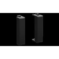 """Комплект модульных заглушек """"Avanti"""", """"Черный матовый"""", 0,5 модуля 2 штуки"""