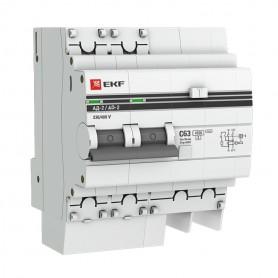 Выключатель авт. диф. тока 2п 4мод. C 40А 30мА тип AC 4.5кА АД-2 PROxima EKF