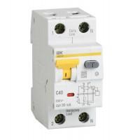Выключатель автоматический дифференциального тока 2п (1P+N) C 10А 30мА тип A 6кА АВДТ-32 2мод. ИЭК