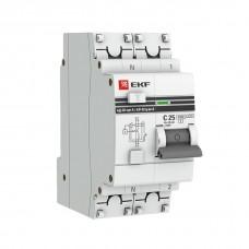 Выключатель автоматический дифференциального тока 1п+N 2мод. C 16А 30мА тип AC 4.5кА АД-32 PROxima EKF DA32-16-30-pro