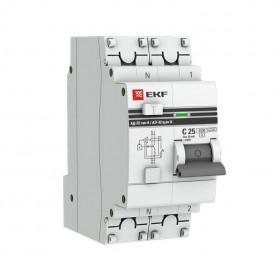 Выключатель авт. диф. тока 1п+N C 63А 30мА тип AC 4.5кА АД-32 PROxima EKF