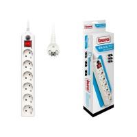 Удлинитель с сетевым фильтром 6х5м с заземл. 10А IP20 600SH-5-W CCA 3х0.75 бел. BURO