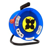 Удлинитель на катушке 4 розетки, 40 м, d=240, термозащита, IP44, ВЕМ-250 ПВС 3x1,5