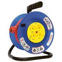 Удлинитель на катушке 4 розетки, 30 м, d=240, термозащита, ВЕМ-250 ПВС 2x0,75