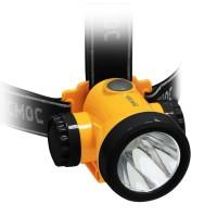Фонарь светодиодный аккум. налобный литиевый H3W 2 режима 3Вт LED 1.5А.ч зарядка от USB КОСМОС