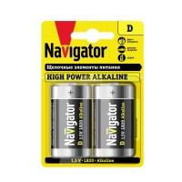 Элемент питания алкалиновый 94 755 NBT-NE-LR20-BP2 (блист.2шт) Navigator