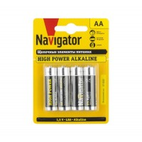 Элемент питания алкалиновый 94 753 NBT-NE-LR6-BP4 (блист.4шт) Navigator