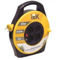 Удлинитель на катушке 4х10м без заземл. 6А IP20 УК10 Garden с термозащ. 2х0.75 ИЭК