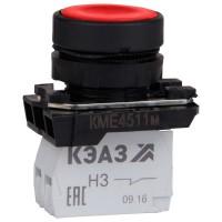 Кнопка КМЕ 4511м 1но+1нз цилиндр IP54 красн. КЭАЗ