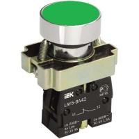 Кнопка LAY-BA31 без подсветки зел. 1з ИЭК