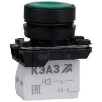 Кнопка КМЕ 4511м 1но+1нз цилиндр IP54 зел. КЭАЗ