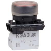 Кнопка КМЕ 4211м 1но+1нз цилиндр IP65 красн. КЭАЗ