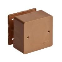 Коробка универсальная для кабель-каналов 85х85х45 корич. Рувинил
