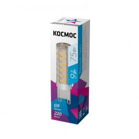 Лампа светодиодная LED 9Вт 220В G9 4500К КОСМОС