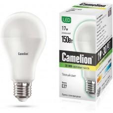 Лампа светодиодная LED17-A65/830/E27 17Вт грушевидная 3000К тепл. бел. E27 1470лм 170-265В Camelion