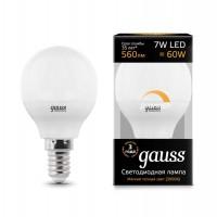 Лампа светодиодная Led Globe-dim E14 7Вт 3000К диммируемая Gauss