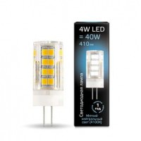 Лампа светодиодная LED G4 4Вт AC185-265В 4100К керамика Gauss