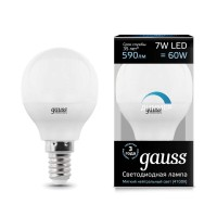 Лампа светодиодная Led Globe-dim E14 7Вт 4100К диммируемая Gauss