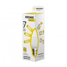 Лампа светодиодная LED CN 7Вт 220В E27 3000К 3 уровня яркости Smart КОСМОС