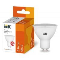 Лампа светодиодная ECO PAR16 5Вт 4000К белый GU10 450лм 230-240В ИЭК