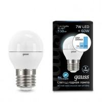 Лампа светодиодная LED Globe 7Вт E27 4100К step dimmable (диммир.) Gauss