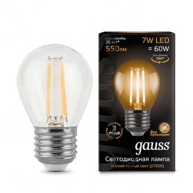 Лампа светодиодная Filament Шар E27 7Вт 2700К GAUSS