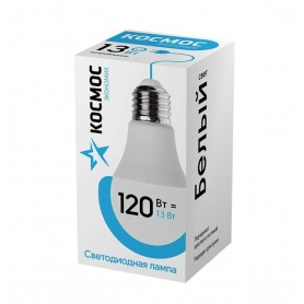 Лампа светодиодная LED BASIC A60 13Вт 220В E27 4500К КОСМОС
