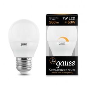 Лампа светодиодная Led Globe-dim E27 7Вт 3000К диммируемая Gauss