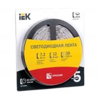 Лента светодиодная LED LSR-5050R30-7.2-IP20-12V 7Вт/м красн. (уп.5м) ИЭК
