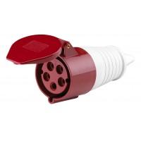Розетка кабельная 32А 380В 3P+E+N тип. роз. 225 IP44 DEKraft