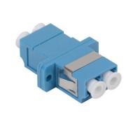 Адаптер проходной LC-LC для одномодового и многомодового кабеля (SM/MM); с полировкой UPC; двойного исполнения (Quadro) ITK