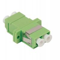 Адаптер проходной LC-LC для одномодового и многомодового кабеля (SM/MM); с полировкой APC; двойного исполнения (Quadro) ITK