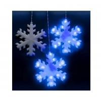 Электрогирлянда занавес светодиодная Снежинки ULD-E2703-120/DTA BLUE IP20 SNOWFLAKES син. с контроллером 120LED 2.7х0.3м Uniel