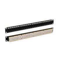 Патч-панель PP3-19-24-8P8C-C5E-110D 19дюйм. 1U 24 порт. RJ45 кат. 5e Dual IDC ROHS черн. Hyperline