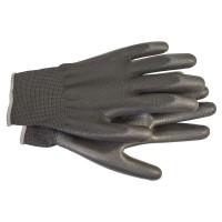 Перчатки с полиуретановым покрытием размер 10 черн. HAUPA