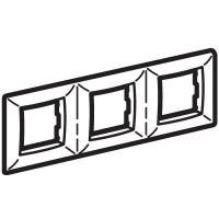 Рамка на 2+2+2 модуля трехместная , белая для коробок PDD-N60