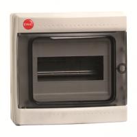 Бокс ОП IP65 8м сер/дым. двер. клемм. ДКС