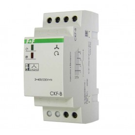 Реле контроля наличия; ассимметрии и чередования фаз CKF-B (монтаж на DIN-рейке 35мм; задержка отключения 3-5с; 3х400/230В+N 2А 1Z ) F&F