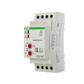 Реле контроля наличия и чередования фаз CKF-BT (монтаж на DIN-рейке 35мм; микропроцессорный; регулировка порога отключения и времени отключения; контроль верхнего и нижнего значений напряжения; 3х400/230+N 2х8А 1Z 1R IP20) F&F