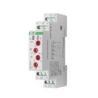 Реле контроля наличия и чередования фаз CKF-318-1 (контроль чередования; слипания фаз; регулировка верх. и нижн. порога напряжения; регулировка задержки отключения; 1 модуль; монтаж на DIN-рейке) F&F