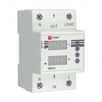 Реле напряжения и тока с дисплеем MRVA 63А PROxima EKF