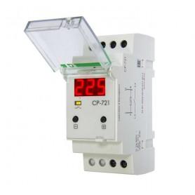 Реле напряжения CP-721 (150-450 AC 30А 1перекл. IP20 монтаж на DIN-рейке) F&F