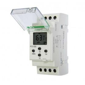 Реле времени PCZ-522 (2канала-2х125пар вкл. /выкл. сут. /нед. циклы 24-264В AC/DC 2х16А 2перекл. IP20 монтаж на DIN-рейке) F&F