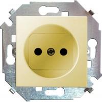 Механизм розетки 1-м СП Simon15 16А IP20 защ. шторки без заземл. сл. кость Simon
