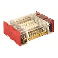 Блок распределительный 4р 7х7мм + 1х8мм + 1х9мм + 1х12мм на DIN-рейку 160А ДКС