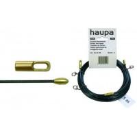 Протяжка кабельная 10м из перлона d3 стальные наконечник поисковая пружина HAUPA