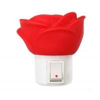 Светильник светодиодный NL-172 Роза ночник с выкл. 220В Camelion