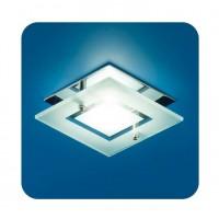 Светильник Quartz 51 3 05 с накладным стеклом квадрат. MR16 хром ИТАЛМАК