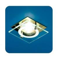 Светильник Quartz 51 4 04 с накладным стеклом квадрат. MR16 зол. ИТАЛМАК
